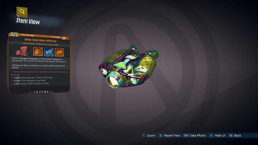 Borderlands 3 Legendary Class Mods Infiltrator