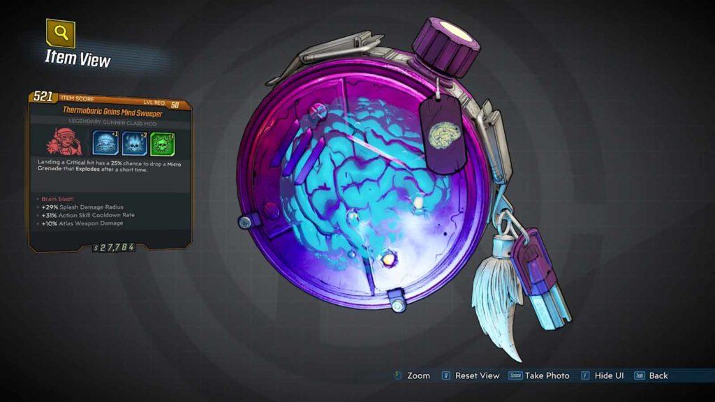 mind sweeper Borderlands 3 Legendary Class Mods