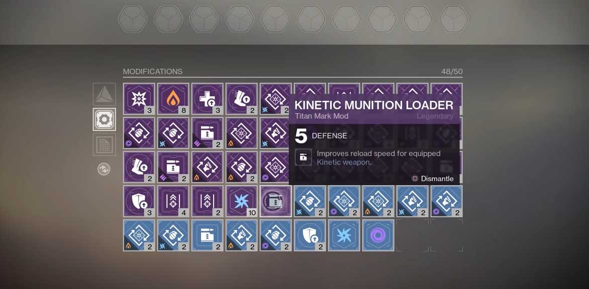 Mod Components in Destiny 2