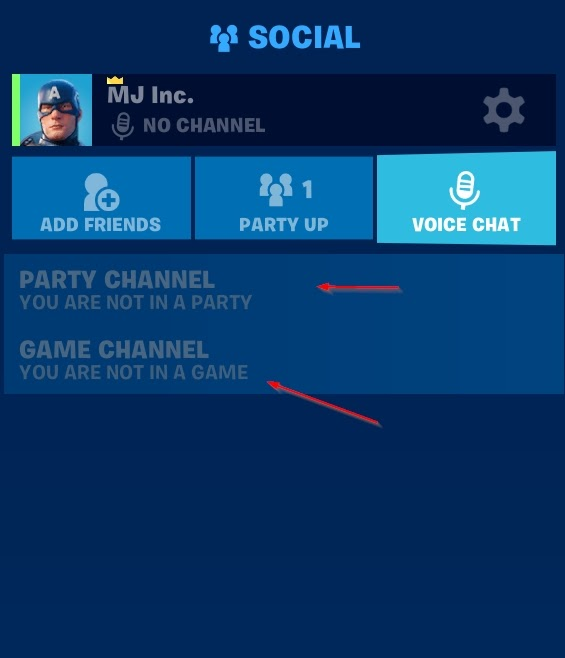 Change your Voice Chat channel