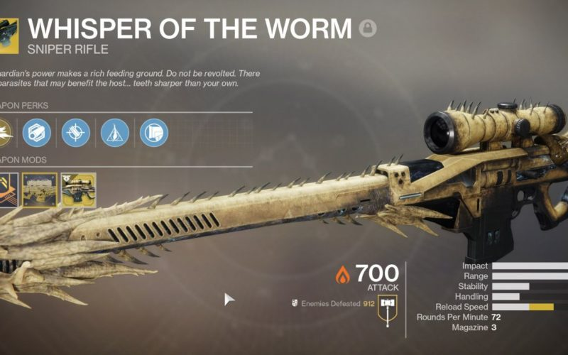 How good is the Whisper of the Worm in Destiny
