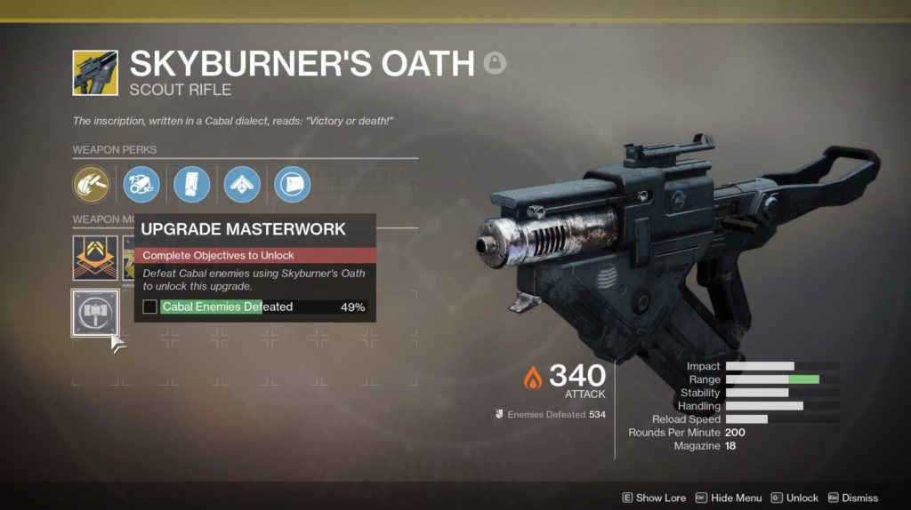 How to get Skyburner's Oath in Destiny 2