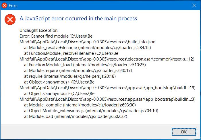 Discord JS Error fix